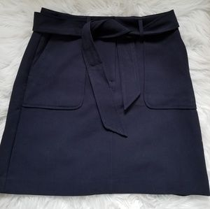 Ann Taylor Loft belted skirt with pockets